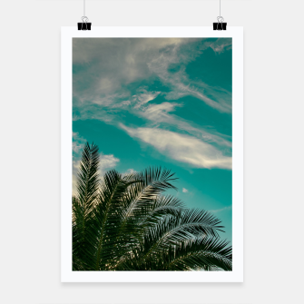 Thumbnail image of Palms on Turquoise - II Poster, Live Heroes