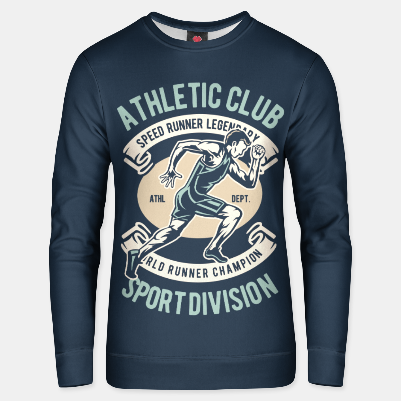 Image of ATHLETIC CLUB - Speed Running Legendary Unisex sweater - Live Heroes