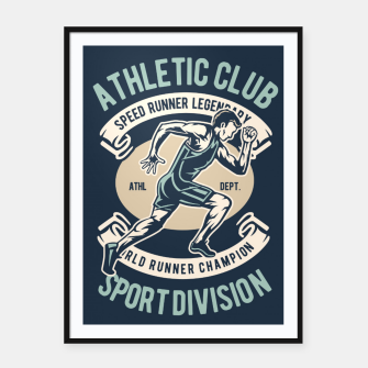 Thumbnail image of ATHLETIC CLUB - Speed Running Legendary Framed poster, Live Heroes