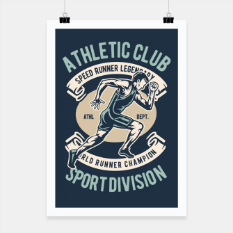 Thumbnail image of ATHLETIC CLUB - Speed Running Legendary Poster, Live Heroes
