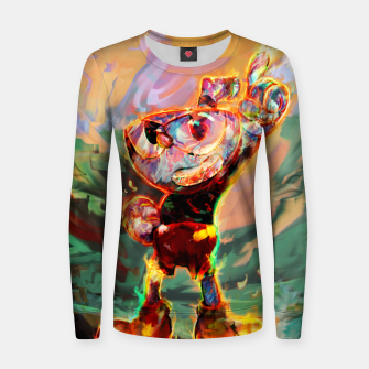 Thumbnail image of cuphead Women sweater, Live Heroes