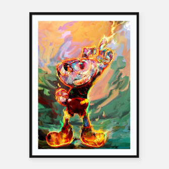 Miniaturka cuphead Framed poster, Live Heroes