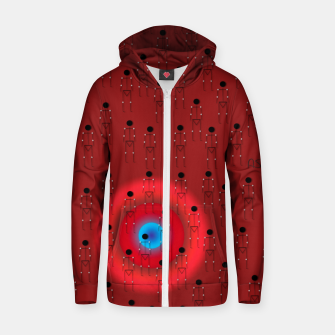 Thumbnail image of Dot PPL RED  Zip up hoodie, Live Heroes