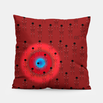 Thumbnail image of Dot PPL RED  Pillow, Live Heroes