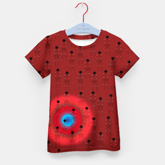 Thumbnail image of Dot PPL RED  Kid's t-shirt, Live Heroes
