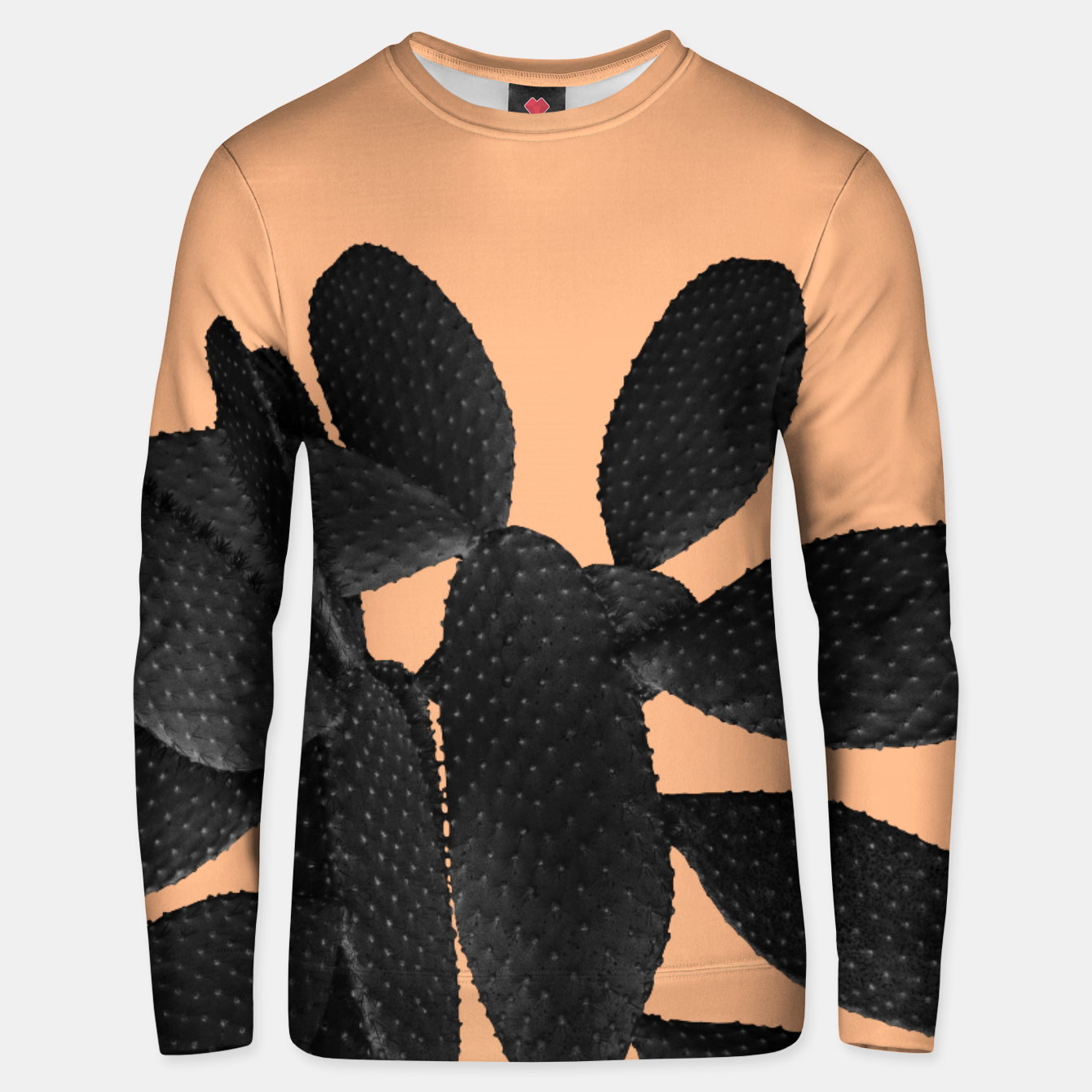 Image of Black Pastel Orange Cacti Vibes #1 #plant #decor #art Unisex sweatshirt - Live Heroes