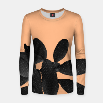 Miniaturka Black Pastel Orange Cacti Vibes #1 #plant #decor #art Frauen sweatshirt, Live Heroes