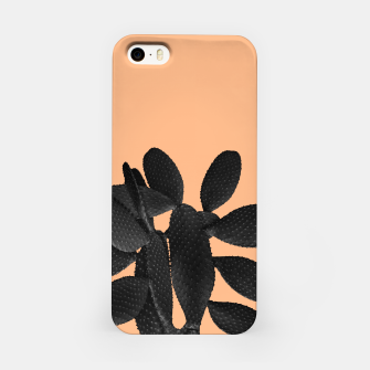 Miniaturka Black Pastel Orange Cacti Vibes #1 #plant #decor #art iPhone-Hülle, Live Heroes