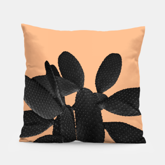 Miniaturka Black Pastel Orange Cacti Vibes #1 #plant #decor #art Kissen, Live Heroes