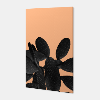 Miniaturka Black Pastel Orange Cacti Vibes #1 #plant #decor #art Canvas, Live Heroes