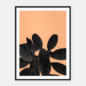 Black Pastel Orange Cacti Vibes #1 #plant #decor #art Plakat mit rahmen thumbnail image
