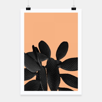 Miniaturka Black Pastel Orange Cacti Vibes #1 #plant #decor #art Plakat, Live Heroes