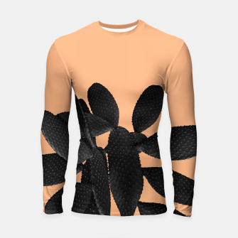 Black Pastel Orange Cacti Vibes #1 #plant #decor #art Longsleeve rashguard thumbnail image