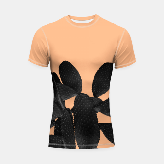 Miniaturka Black Pastel Orange Cacti Vibes #1 #plant #decor #art Shortsleeve rashguard, Live Heroes
