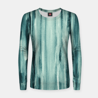 Thumbnail image of Teal Watercolor Dream #1 #painting #decor #art  Frauen sweatshirt, Live Heroes