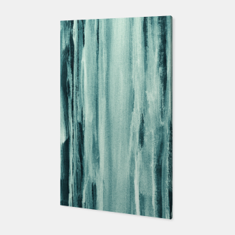 Thumbnail image of Teal Watercolor Dream #1 #painting #decor #art  Canvas, Live Heroes