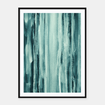 Thumbnail image of Teal Watercolor Dream #1 #painting #decor #art  Plakat mit rahmen, Live Heroes