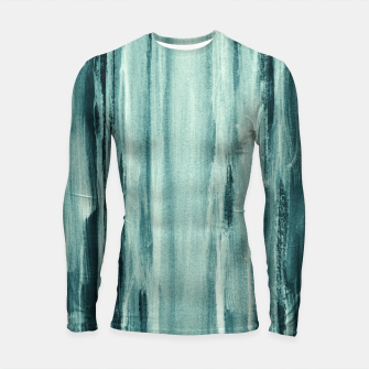 Miniaturka Teal Watercolor Dream #1 #painting #decor #art  Longsleeve rashguard, Live Heroes