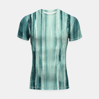 Miniaturka Teal Watercolor Dream #1 #painting #decor #art  Shortsleeve rashguard, Live Heroes
