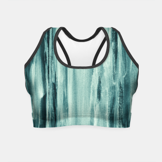 Miniaturka Teal Watercolor Dream #1 #painting #decor #art  Crop Top, Live Heroes