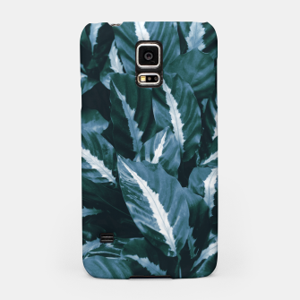 Imagen en miniatura de Blue Green Tropical Jungle Night Leaves #1 #tropical #decor #art Handyhülle für Samsung, Live Heroes