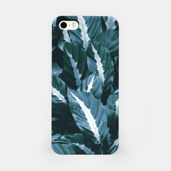 Imagen en miniatura de Blue Green Tropical Jungle Night Leaves #1 #tropical #decor #art iPhone-Hülle, Live Heroes