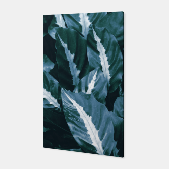 Imagen en miniatura de Blue Green Tropical Jungle Night Leaves #1 #tropical #decor #art Canvas, Live Heroes