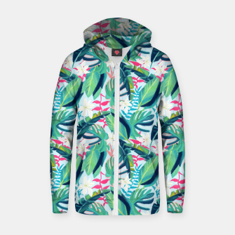 Miniatur Tropical Eye Candy Zip up hoodie, Live Heroes