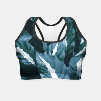 Imagen en miniatura de Blue Green Tropical Jungle Night Leaves #1 #tropical #decor #art Crop Top, Live Heroes