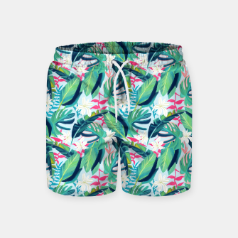 Thumbnail image of Tropical Eye Candy Swim Shorts, Live Heroes