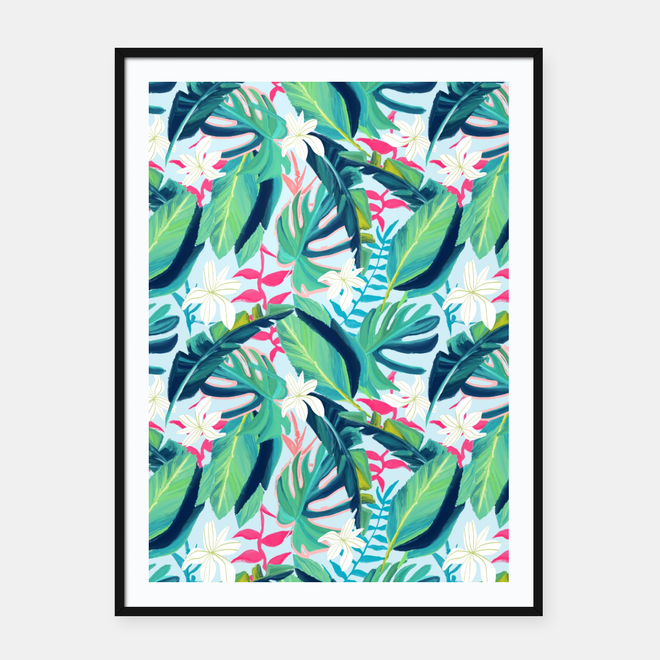 Image of Tropical Eye Candy Framed poster - Live Heroes