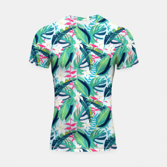 Thumbnail image of Tropical Eye Candy Shortsleeve rashguard, Live Heroes