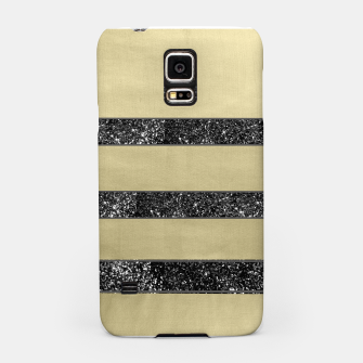 Thumbnail image of Gold Black Glitter Stripes Pattern #1 #minimal #decor #art  Handyhülle für Samsung, Live Heroes