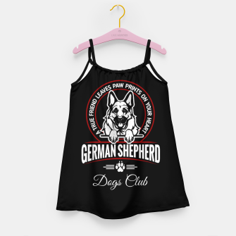 German Shepherd the Best One Girl's dress thumbnail image