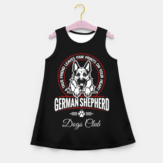 German Shepherd the Best One Girl's summer dress thumbnail image