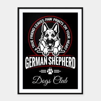 German Shepherd the Best One Framed poster thumbnail image