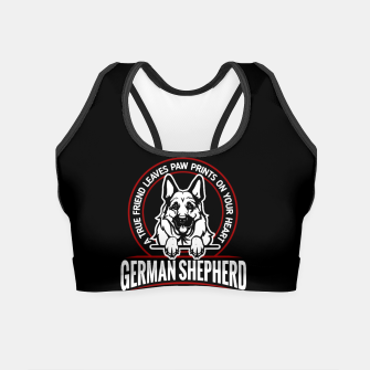 German Shepherd the Best One Crop Top thumbnail image