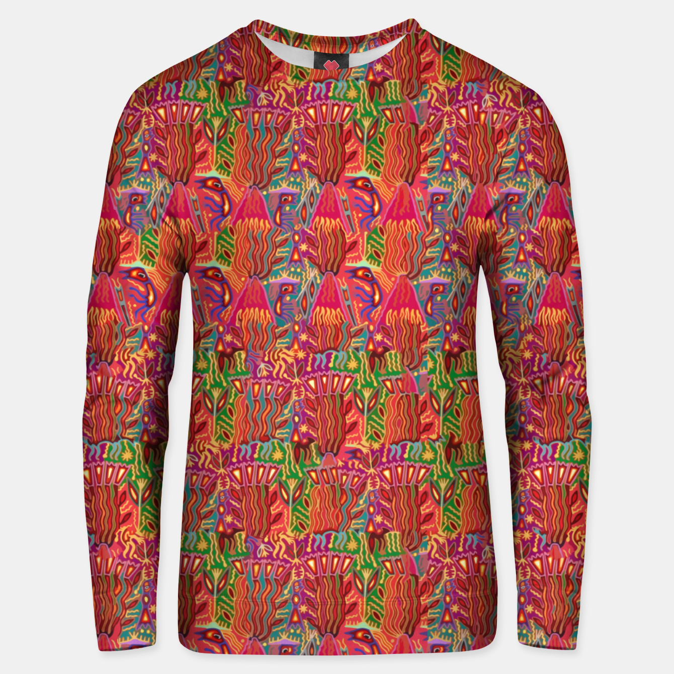 Image of Red ethnic Unisex sweater - Live Heroes