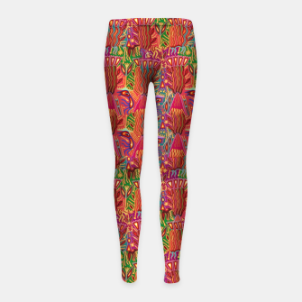 Thumbnail image of Red ethnic Girl's leggings, Live Heroes