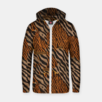 Thumbnail image of  Tribal texture Zip up hoodie, Live Heroes