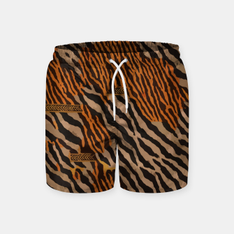 Thumbnail image of  Tribal texture Swim Shorts, Live Heroes