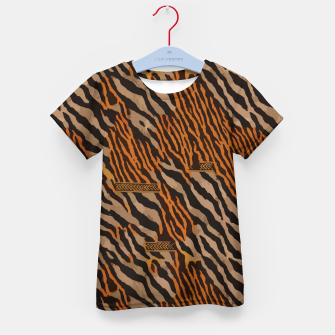 Thumbnail image of  Tribal texture Kid's t-shirt, Live Heroes