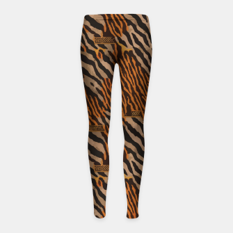 Thumbnail image of  Tribal texture Girl's leggings, Live Heroes