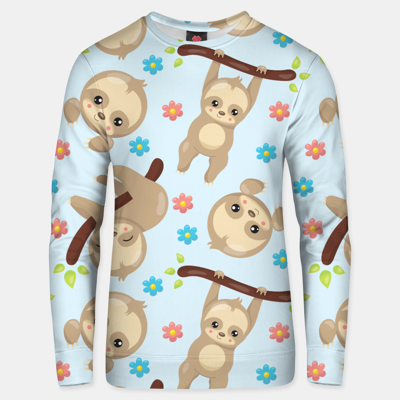Image of Cute Sloth With Branch Unisex sweater - Live Heroes