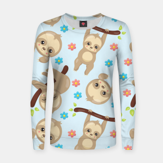 Cute Sloth With Branch Women sweater thumbnail image