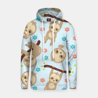Cute Sloth With Branch Hoodie thumbnail image