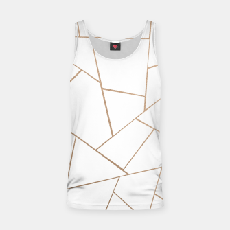 Thumbnail image of Rose Gold White Geometric Glam #1 #geo #decor #art  Muskelshirt , Live Heroes
