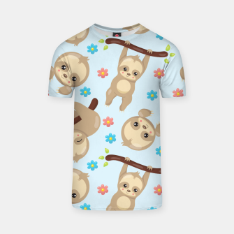 Cute Sloth With Branch T-shirt thumbnail image