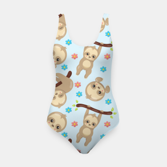 Cute Sloth With Branch Swimsuit thumbnail image