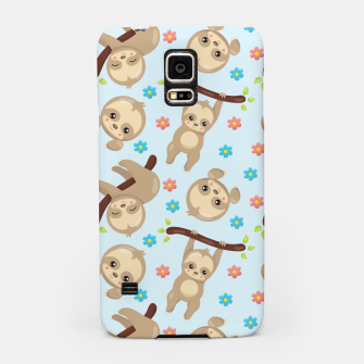Cute Sloth With Branch Samsung Case thumbnail image